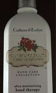 CRABTREE & EVELYN ultra moisturising Hand Therapy - POMEGRANATE, ARGAN & GRAPESEED OIL