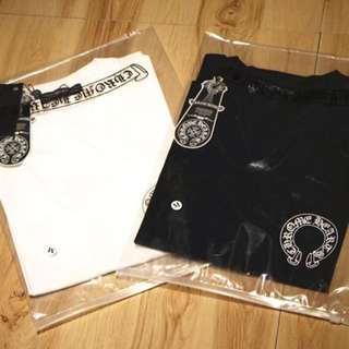 Chrome hearts tee in blk or white