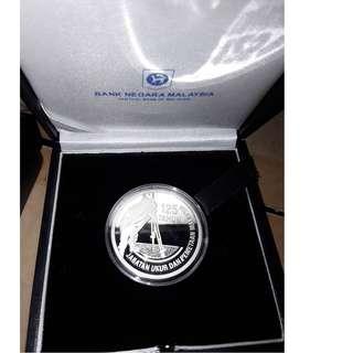 Malaysia JUPEM Single Silver Proof Coin 2010 Rare