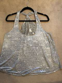 Silver Sequinned Top