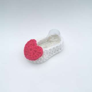 BABY BOOTIES: Baby Shoes, Heart Booties, Love Booties (Crochet)