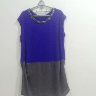 🚚 寶藍長版衣裙