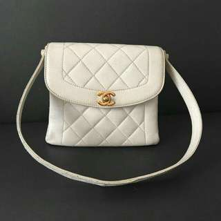 Chanel White Bag Authentic
