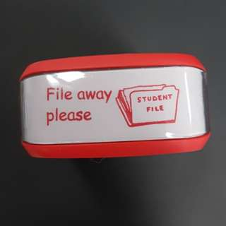 Teacher Stamp: File away please