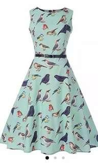 Rosegal Vintage Birds Dress