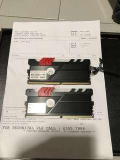 Geil DDR4 RGB ram 16gb (2 x 8gb) 2400mhz
