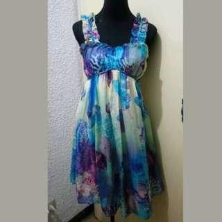WA526 Anna Ferretti Flowy Beach Summer Dress (Medium)