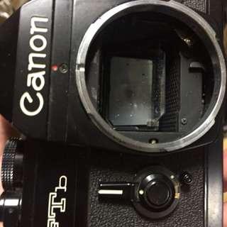 底片 單眼相機 canon ftb 黑機 機頭有凹