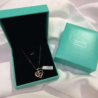 Authentic 18k Gold Triple Heart Necklace