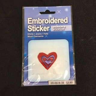 🚚 全新✨愛心 轉印貼布 刺繡布貼 燙布貼 補丁貼 Textile sticker