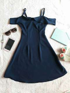 Off Shoulder Dress with Spaghetti Starps