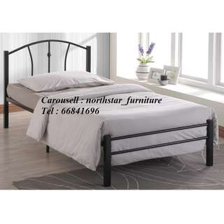 Single Metal Bed (NOT Included Mattress)