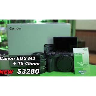 Canon EOS M3 + 15-45mm (New)