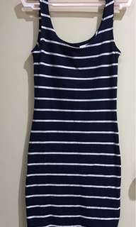 H&M stripes bodycon (used once)