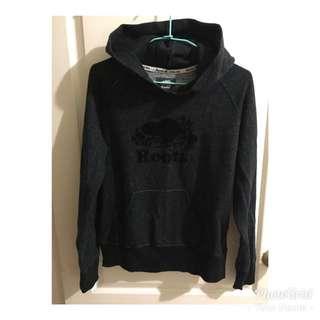 Root 大logo黑灰色帽T