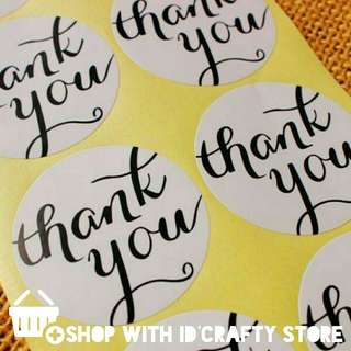 FREE MAILING - 108PCS WHITE THANK YOU STICKERS