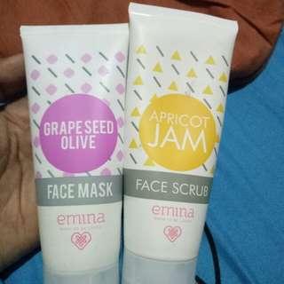 Face scrub, face mask