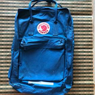 Fjallraven Kanken Backpack 護肩帶 藍 School Bag Size 17'' Lake Blue