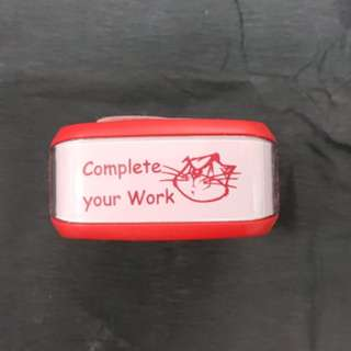 Teacher Stamp: Complete your Work