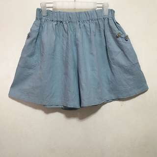 [Preloved] Oversized or Plus Size Blue Shorts/Skort