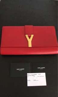 Yves Saint Laurent Y leather clutch bag