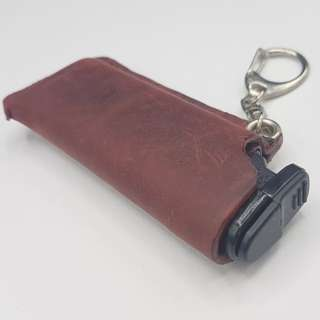 Genuine Leather Lighter Cover Holder Casing