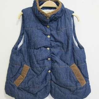 舖棉保暖百搭口袋背心