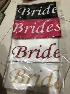 Bridesmaid Sash