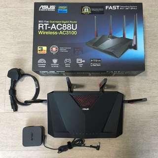 Asus RT-AC88U Router & TP Link AV600 Wifi Extender