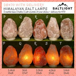 Authentic Himalayan Salt Lamps | 2@$70 with delivery