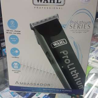 WAHL AMBASSADOR  PROFESSIONAL RECHARGEABLE CLIPPERL00