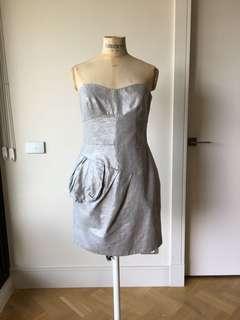 Cue size 10 silver dress