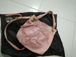 Coach pink handbag sling