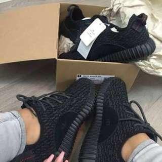 Black yeezy boost