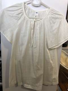 Old Navy White Blouse - Preloved, Excellent Condition
