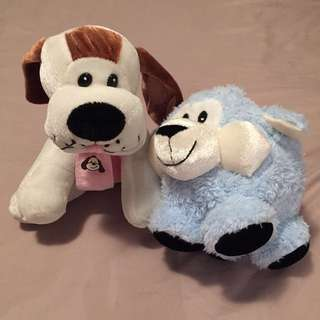 Cute dog and sheep soft toy