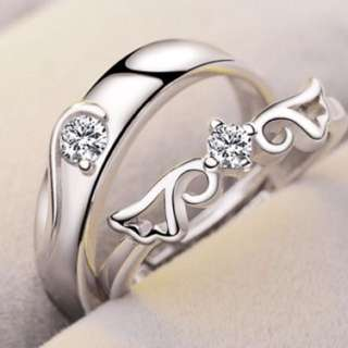 Adjustable Silver Couple Rings