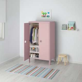 Baby / kids wardrobe light pink