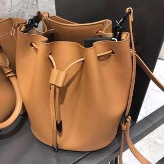 Charles & Keith camel colour Bucket Bag