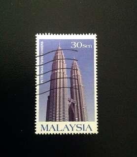 Malaysia 1999 Petronas Twin Tower 1V Used (0347)