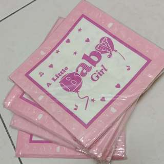 Baby girl party napkin