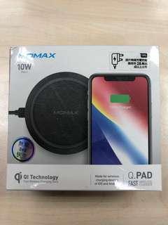 *特價Sale* Momax Q.pad fast wireless charger black 無線充電 黑色