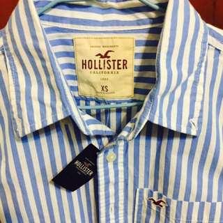 Hollister 條紋 襯衫 短袖