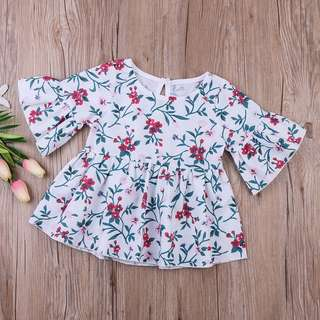 🦁Instock - flutter floral dress, baby infant toddler girl children sweet kid happy abcdefgh hello there