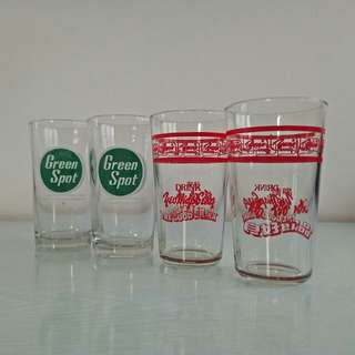 70s soft drinks glass cup mint condition 4pcs $15