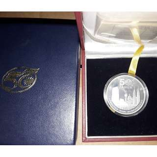 Malaysia 50th Anniversary of Independence Silver Proof Coin with box RARE