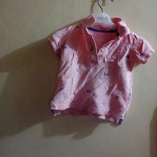 unisex pink polo