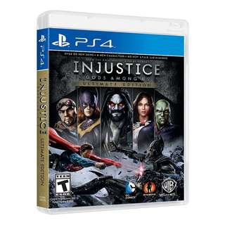 PS4 INJUSTICE GOD AMONG US ULTIMATE EDTN
