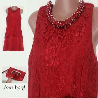 Red Dress with Red Bag