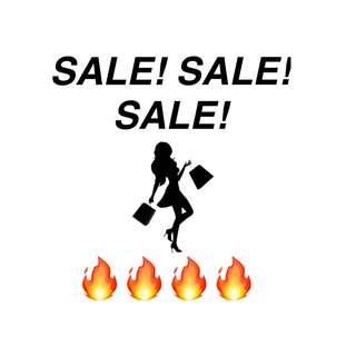 SALE! SALE! SALE! 🔥🔥🔥🔥